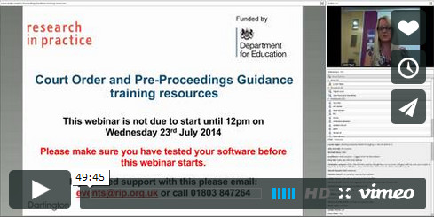 Introduction to COPP training resources - webinar 23 July 2014 video